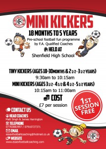 Mini Kickers Leaflet no date